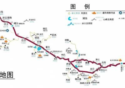 219新藏线地图