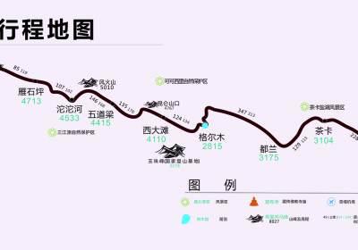 109青藏线地图