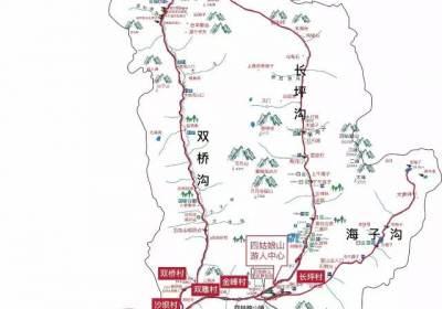 四姑娘山景区线导向路图