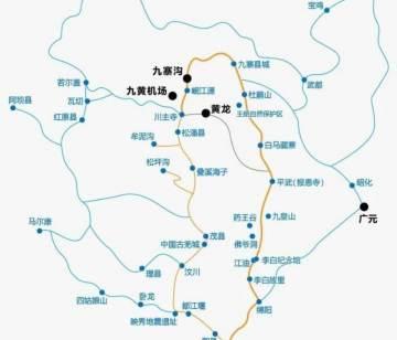 九寨沟自驾环线旅游地图,什么是九寨沟九环线?